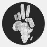 darfur africa peace hand classic round sticker