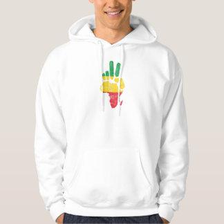 darfur africa peace hand hoodie