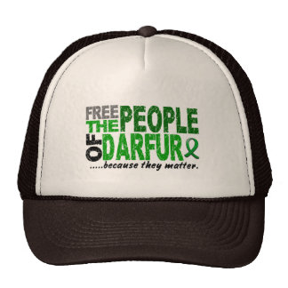 Darfur FREE THE PEOPLE Trucker Hat