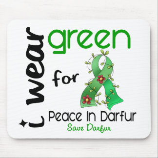 Darfur I WEAR GREEN FOR PEACE 43 Mouse Pad