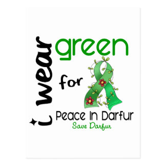 Darfur I WEAR GREEN FOR PEACE 43 Postcard