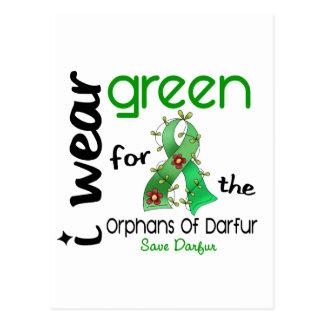Darfur I WEAR GREEN FOR THE ORPHANS 43 Postcard