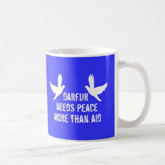 Darfur is dying, take action now classic white coffee mug