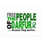 Darfur LIBERA a la GENTE Tarjetas Postales