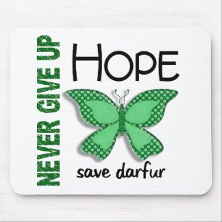Darfur Never Give Up Hope Butterfly 4.1 Mouse Pad