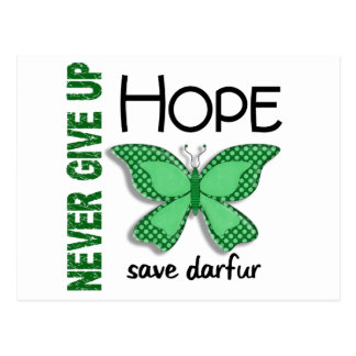 Darfur Never Give Up Hope Butterfly 4.1 Postcard