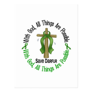 Darfur With God Cross Postcard