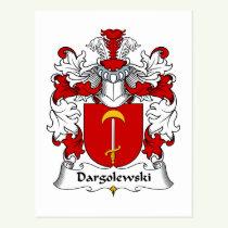 Dargolewski Family Crest Postcard