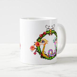 Dargon Charm Pixel Art Large Coffee Mug