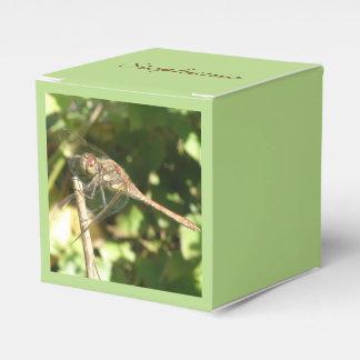 Dargonfly en una caja del favor de la ramita cajas para detalles de boda