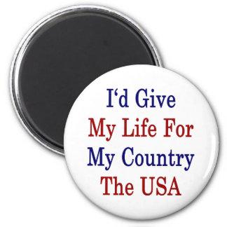 Daría a mi vida para mi país Los E.E.U.U. Iman