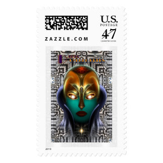 Daria Cyborg Queen Tech Postage Stamp