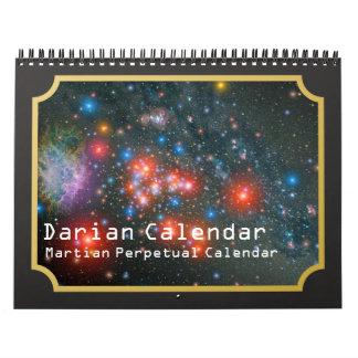 Darian Calendar: Martian Perpetual Calendar