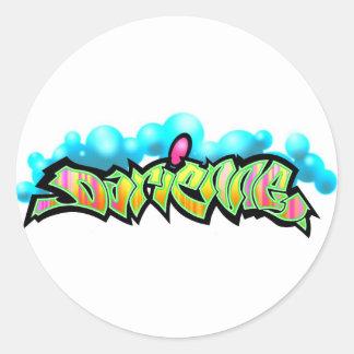 darienne classic round sticker