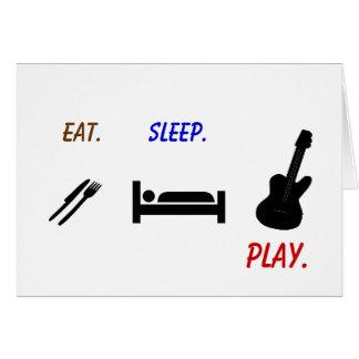 Darin Warner -eat. sleep. PLAY. Card