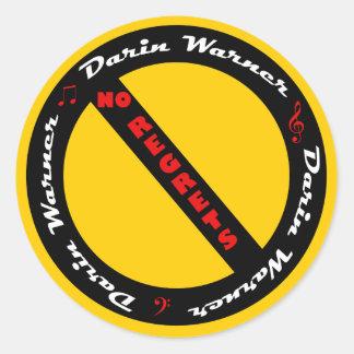 Darin Warner -NO REGRETS Classic Round Sticker