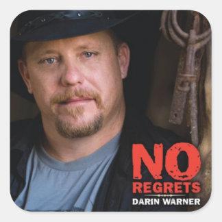 Darin Warner - NO REGRETS Square Sticker
