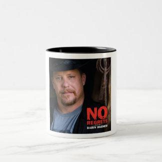 Darin Warner - NO REGRETS Two-Tone Coffee Mug