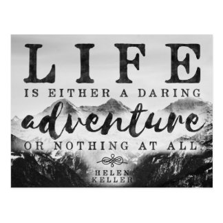 Daring adventure - Life quote postcard
