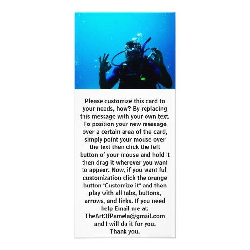 Daring Scuba Diver Rack Card