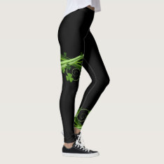 Daring Shamrock Celtic Irish St Patrick's Leggings at Zazzle