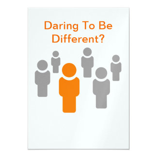 Daring To Be Different-product. Card