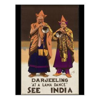 Darjeeling en una danza del lama tarjetas postales