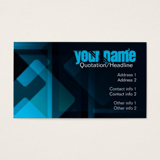 Dark Abstract Blue Business Card