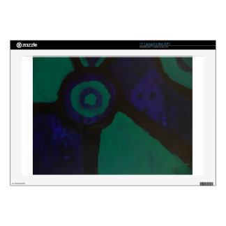 "Dark Abstract by S B Eazle 17"" Laptop Skin"