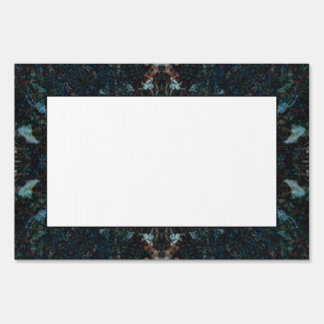 Dark Abstract Design with Some Soft Edges. Sign