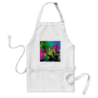 Dark Abstract Molten Color Drip Adult Apron