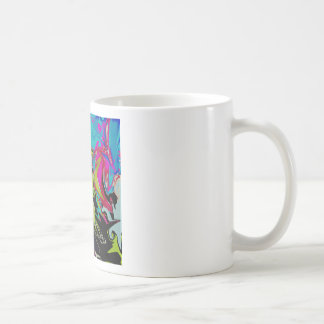 Dark Abstract Molten Color Drip Coffee Mug