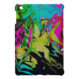 Dark Abstract Molten Color Drip iPad Mini Cover