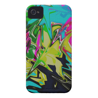 Dark Abstract Molten Color Drip iPhone 4 Cover