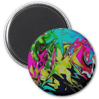 Dark Abstract Molten Color Drip Magnet