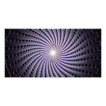 Dark Abstract Spiral: Personalized Photo Card