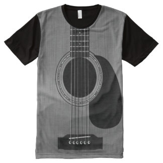 Dark Acoustic Guitar All-Over-Print T-Shirt