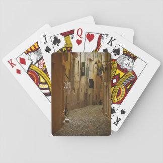 Dark alley in Naples, Italy Deck Of Cards