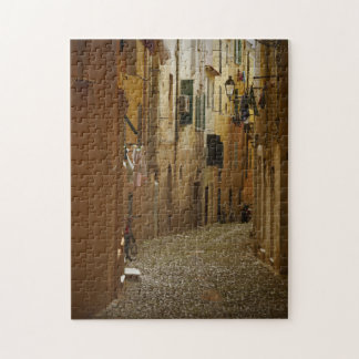 Dark alley in Naples, Italy jigsaw puzzle