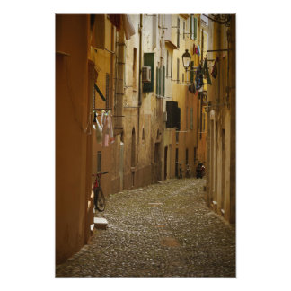 Dark alley in Naples, Italy Photo Print