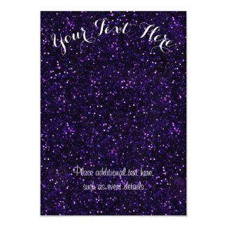 Dark Amethyst Purple Glitter Magnetic Card