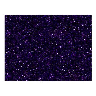 Dark Amethyst Purple Glitter Postcard