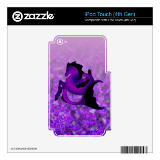 Dark Amethyst Seahorse Decals For iPod Touch 4G