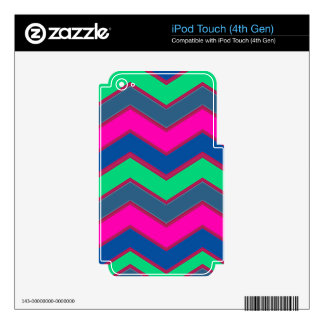 Dark and Bold Zigzags iPod Touch 4G Decals