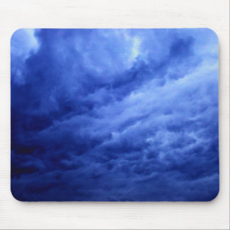 Dark and Bright Blue Mammatus Clouds by KLM Mouse Pad