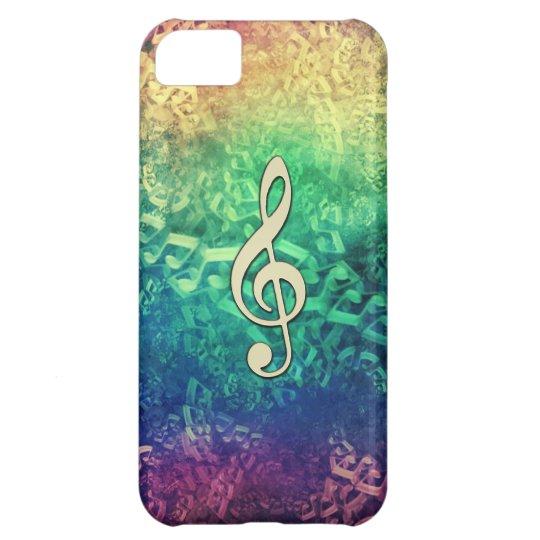 Dark and Crazy Rainbow Music Notes IPhone Case