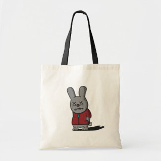 Dark and Gloomy Rabbit in red top Tote Bag