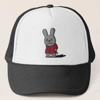 Dark and Gloomy Rabbit in red top Trucker Hat