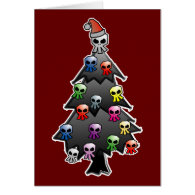 Dark and Gothic Holiday Greeting Greeting Card