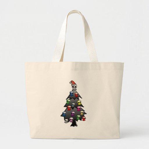Dark and Gothic Holiday Greeting Jumbo Tote Bag